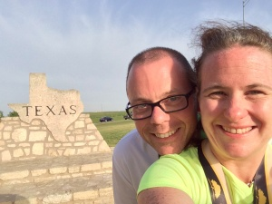 On our way back from the OKC Marathon in April 2014