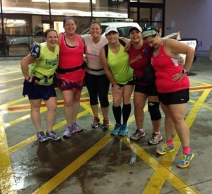 "We were drenched!  Nothing like the solid ""ker-thunk"" of dripping wet clothes hitting the tile floor after a run through a monsoon!"