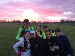 Seriously, a beautiful pink sunrise with great friends is the best way to spend a Saturday morning.