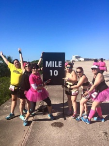 "Priscilla's first ""Mile 10""!"